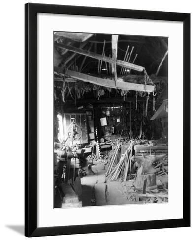 Old Smithy Interior--Framed Art Print