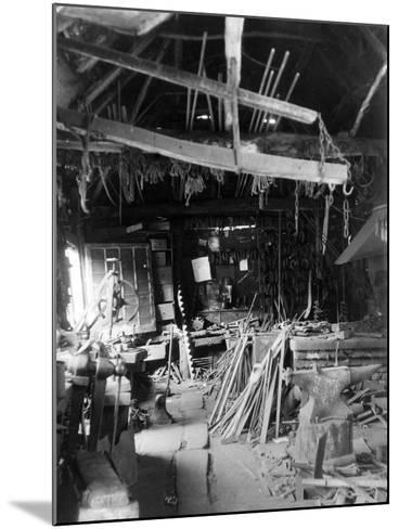 Old Smithy Interior--Mounted Photographic Print