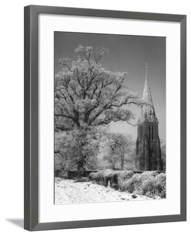 Little Brington Winter--Framed Art Print