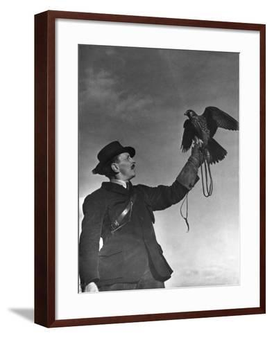 Falconry: Showing Off--Framed Art Print