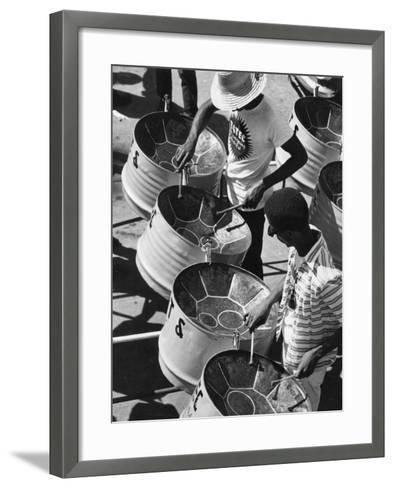 Trinidad Carnival Band--Framed Art Print
