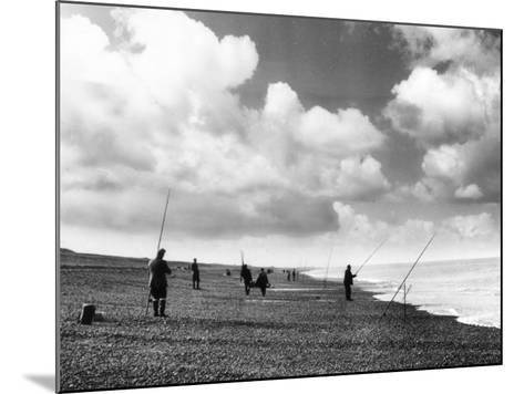 Norfolk Sea Anglers--Mounted Photographic Print