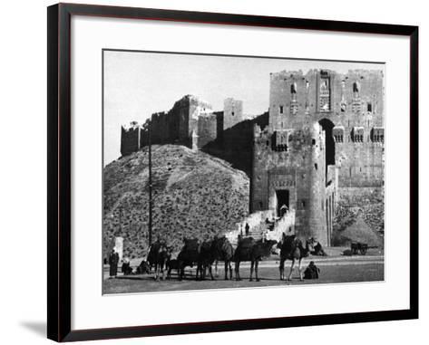 Citadel of Aleppo--Framed Art Print