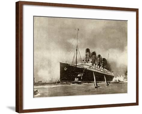 Cunard Liner Lusitania 1915--Framed Art Print