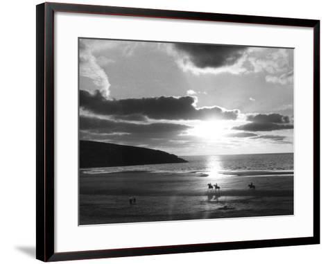 Crantock Bay Riders--Framed Art Print