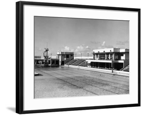 Morecambe Lido--Framed Art Print