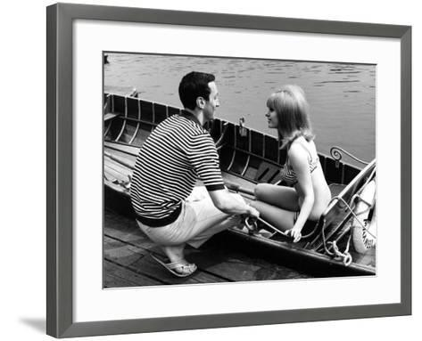 Couple Hire a Rowboat--Framed Art Print
