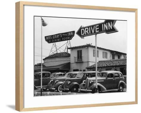 Mrs Gray's Drive Inn--Framed Art Print