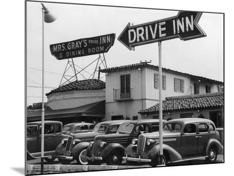 Mrs Gray's Drive Inn--Mounted Photographic Print