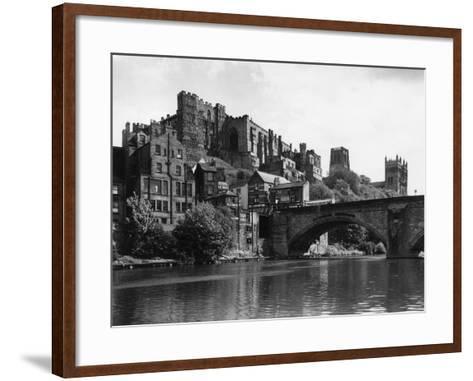 Durham Castle from Wear--Framed Art Print