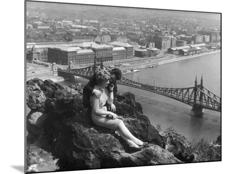 Love on the Danube--Mounted Photographic Print