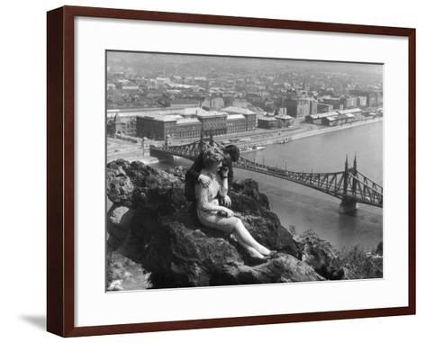 Love on the Danube--Framed Art Print