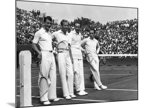 Davis Cup Players--Mounted Photographic Print