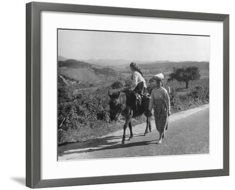 Portuguese Peasants--Framed Art Print