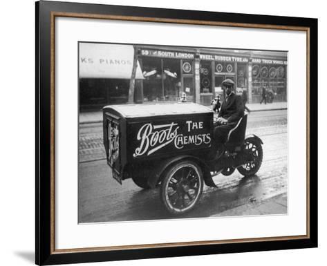 Boots Delivery Van--Framed Art Print