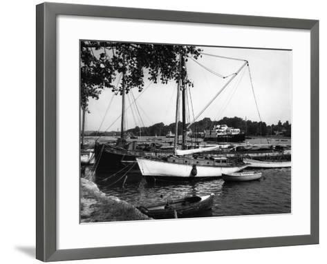 Lymington Harbour-J. Chettlburgh-Framed Art Print