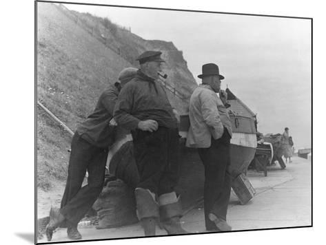 Fishermen at Overstrand-Staniland Pugh-Mounted Photographic Print