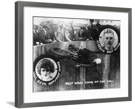 Stunt, Wall of Death--Framed Art Print