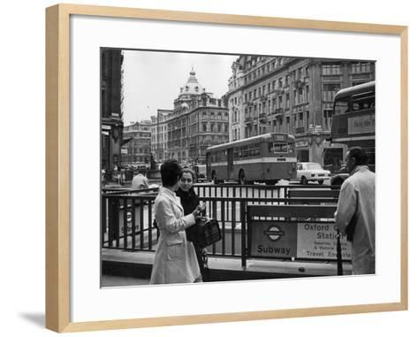 London, Oxford Circus--Framed Art Print