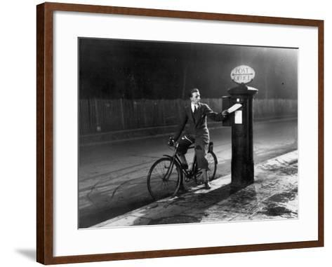 Chap Posts a Letter-Fred Musto-Framed Art Print