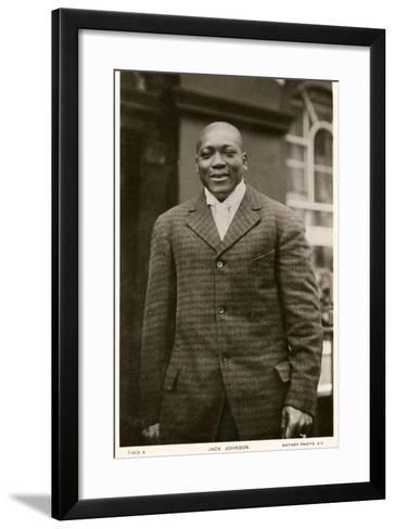 Jack Johnson Boxer--Framed Art Print