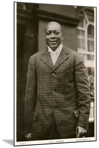 Jack Johnson Boxer--Mounted Photographic Print