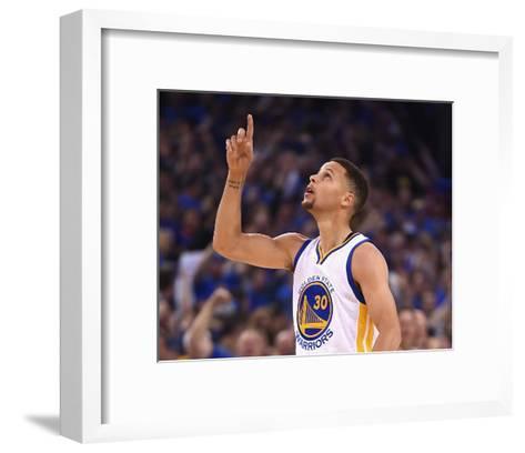 Stephen Curry #30 - Golden State Warriors vs Memphis Grizzlies, April 13, 2016-Thearon W. Henderson-Framed Art Print