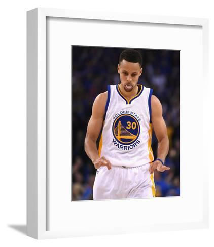 Stephen Curry #30 - Golden State Warriors vs Memphis Grizzlies, April 13, 2016-Thearon W. Henderson-Framed Art Print