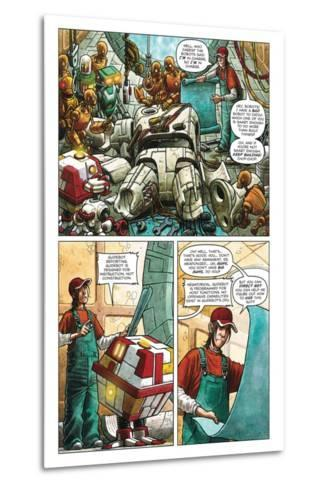 Zombies vs. Robots - Comic Page with Panels-Paul McCaffrey-Metal Print