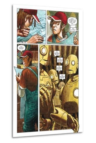 Zombies vs. Robots - Comic Page with Panels-Paul McCaffrey-Metal Print