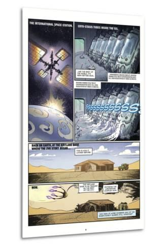 Zombies vs. Robots: Volume 1 - Comic Page with Panels-Anthony Diecidue-Metal Print