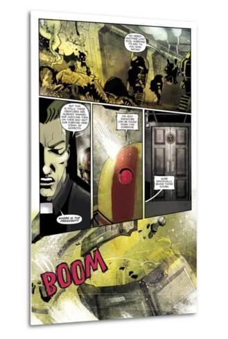 Zombies vs. Robots: Undercity - Comic Page with Panels-Mark Torres-Metal Print