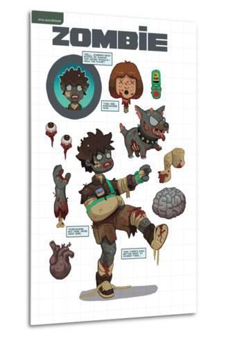 Zombies vs. Robots: No. 7 - Bonus Material-James McDonald-Metal Print