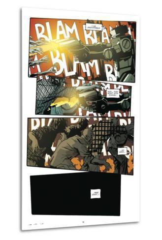 Zombies vs. Robots: No. 9 - Comic Page with Panels-Antonio Fuso-Metal Print