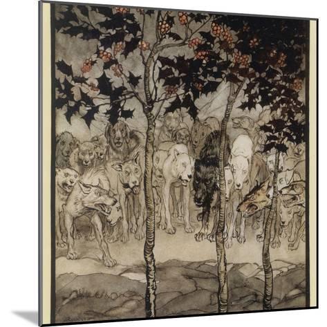 Mythical Irish Dogs-Arthur Rackham-Mounted Photographic Print