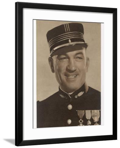Victor Mclaglen British Actor in British Silent Films and American Talkies Seen Here in Uniform--Framed Art Print