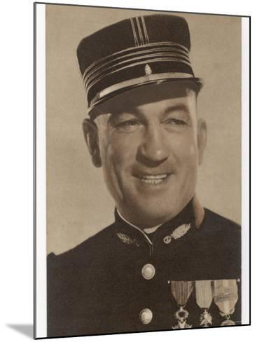 Victor Mclaglen British Actor in British Silent Films and American Talkies Seen Here in Uniform--Mounted Photographic Print