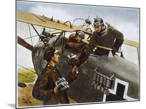 German Fighter Plane Loads up with Hand-Grenades Before a Mission--Mounted Photographic Print