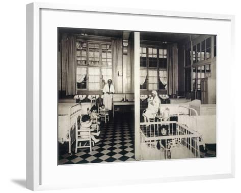 Children's Ward--Framed Art Print