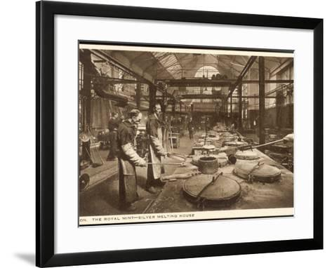 The Silver Melting House at the Royal Mint London--Framed Art Print