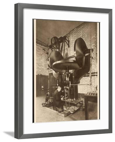 The Coinage and Medal Dies are Formed Under This Press by Forcing a Punch--Framed Art Print