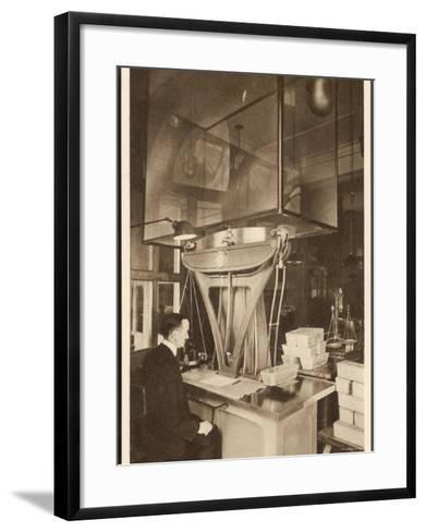 Ingots of Silver are Weighed in the Pyx Office Checking That They are the Correct Weight--Framed Art Print
