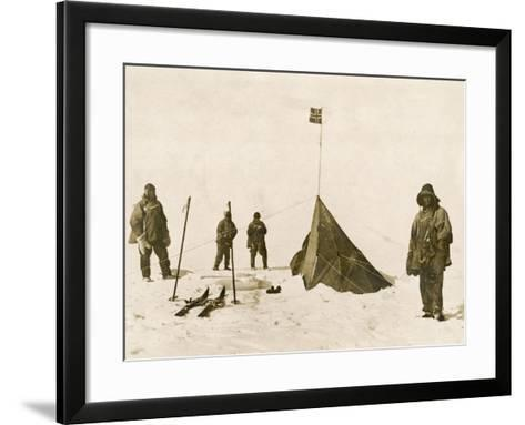 Scott's Team Arrive at the South Pole to Find That Amundsen's Crew Have Beaten Them to It--Framed Art Print