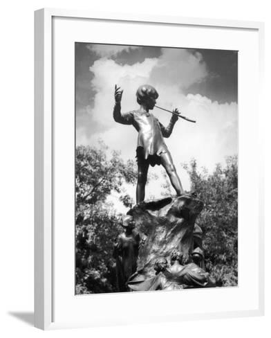 The Peter Pan Monument was Erected-J^ Chettleburgh-Framed Art Print