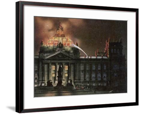 The Reichstag Destroyed by Fire--Framed Art Print