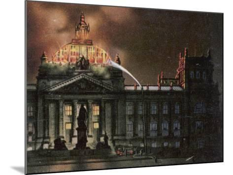 The Reichstag Destroyed by Fire--Mounted Photographic Print