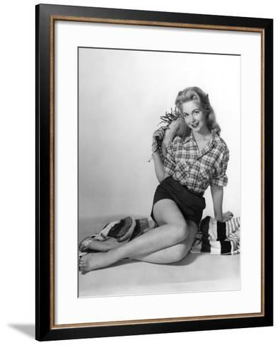 Pin-Up in Shorts 1950S-Charles Woof-Framed Art Print