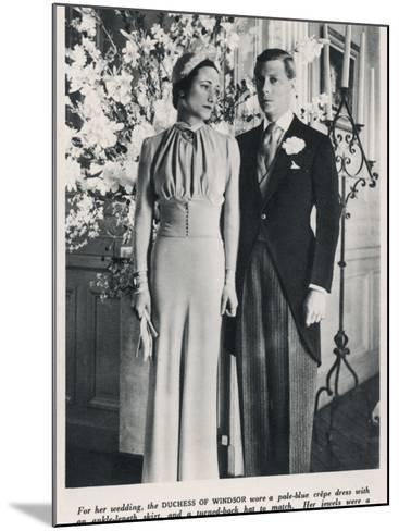 The Duke and Duchess of Windsor--Mounted Photographic Print