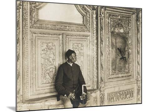 The Head Eunuch of the Harem at the Topkapi Palace, Constantinople, Turkey--Mounted Photographic Print
