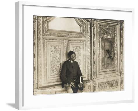 The Head Eunuch of the Harem at the Topkapi Palace, Constantinople, Turkey--Framed Art Print